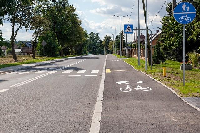 Otwarcie drogi wojewódzkiej nr 487 w Boroszowie po remoncie
