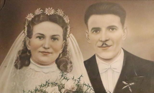 Portret ślubny Franciszki i Wacława Jędzów.