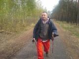 Choć porwany na trasie, odważnie zmierza na pieszo przez Lubuskie
