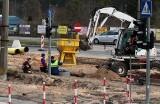Grudziądz. Rozkopane skrzyżowanie ulic Chełmińskiej i Kraszewskiego. Trwa modernizacja sieci tramwajowej. Zobacz zdjęcia