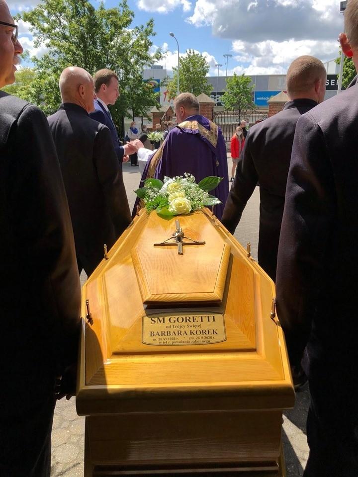 Pogrzeb siostry urszulanki Barbary Goretti