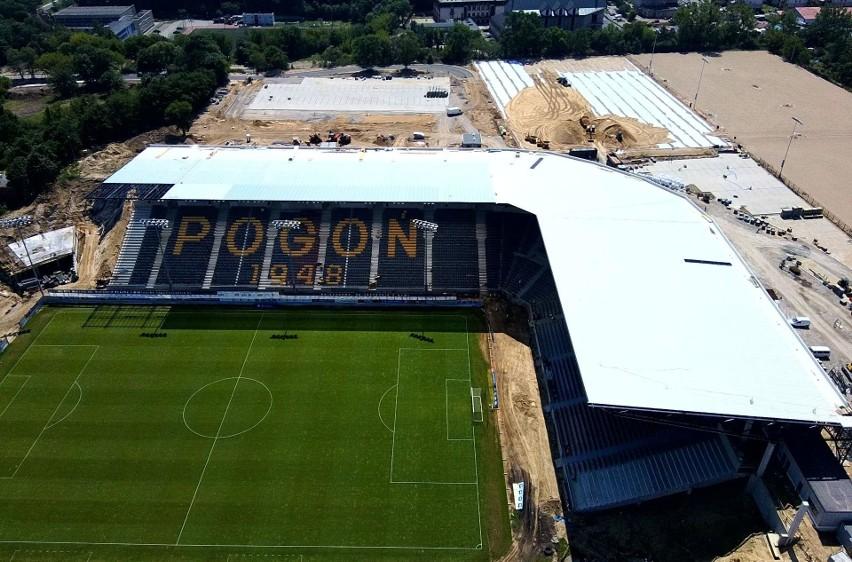 Stadion Pogoni - stan 27 czerwca 2020.