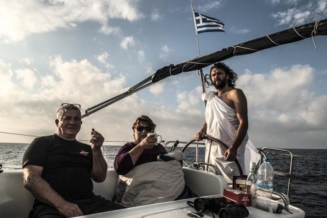 Grażyna na Morzu Egejskim podczas wizyty Neptuna.