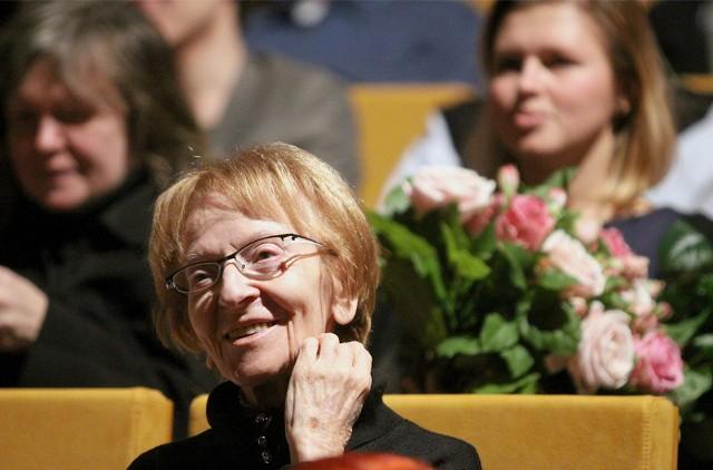 Wanda Wiłkomirska na koncercie w łódzkiej Akademii Muzycznej z okazji jej 85. urodzin, w styczniu 2014 roku.