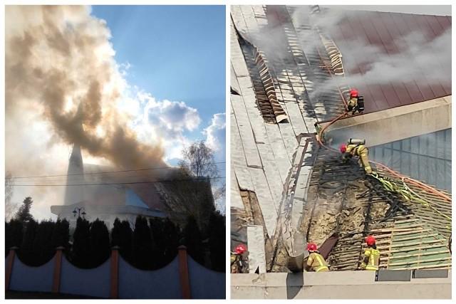 Białystok. Pożar kościoła pod wezwaniem Maksymiliana Marii Kolbego. Płonęło drewniane poszycie