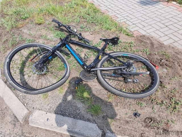 Wypadek rowerzysty w Opolu.