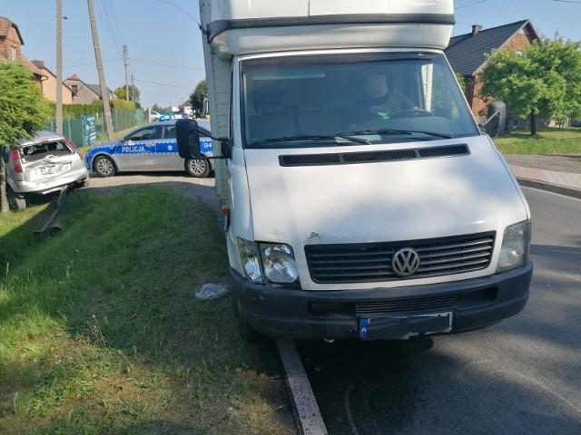 W ciągu kilku godzin na drogach powiatu oświęcimskiego doszło do serii niebezpiecznych zdarzeń, w tym w Osieku (na zdjęciu)