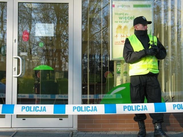W marcu ubr. był napad na bank przy al. Wolności.