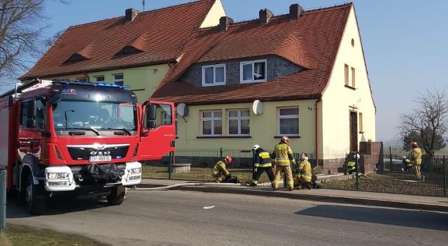 Do pożaru doszło w budynku przylegającym do przedszkola w Kromołowie.