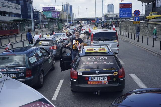 Protest taksówkarzy - czerwiec 2017