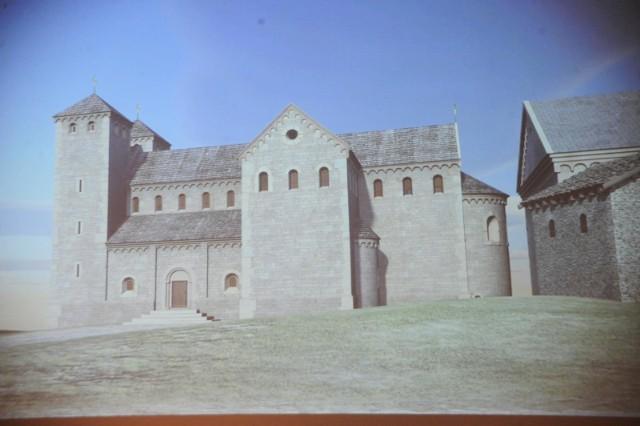 Wizualizacja XI-wiecznej kaplicy św. Gereona