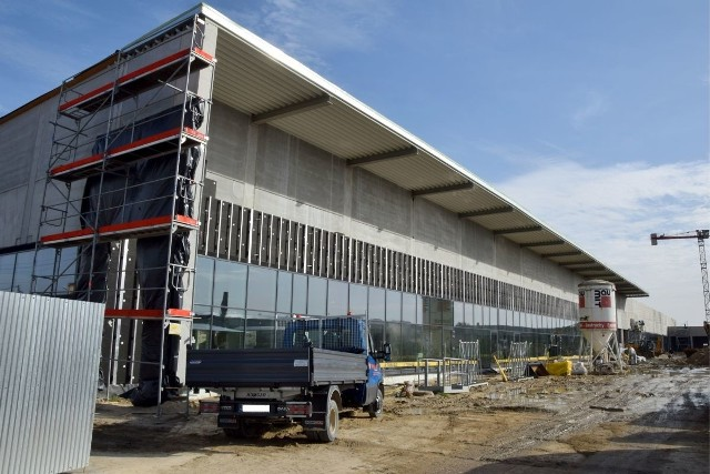 Najnowsze zdjęcia z placu budowy Galerii Sekunda w Jędrzejowie.