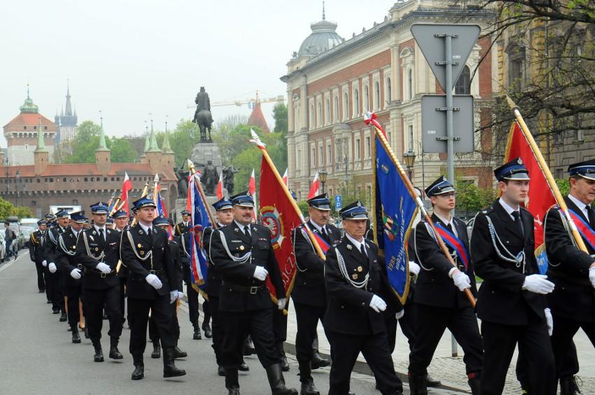 Dzień Strażaka w Krakowie był hucznie świętowany