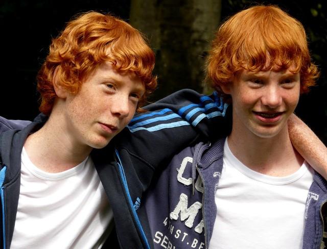 Rudowłosi bliźniacy z Bredy w Holandii