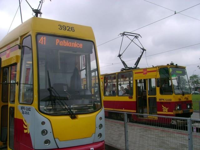 W sobotę od świtu między Łodzią a Pabianicami nie jeździły tramwaje linii 41.