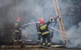 Pożar pod Lutomierskiem. Płonęła stodoła