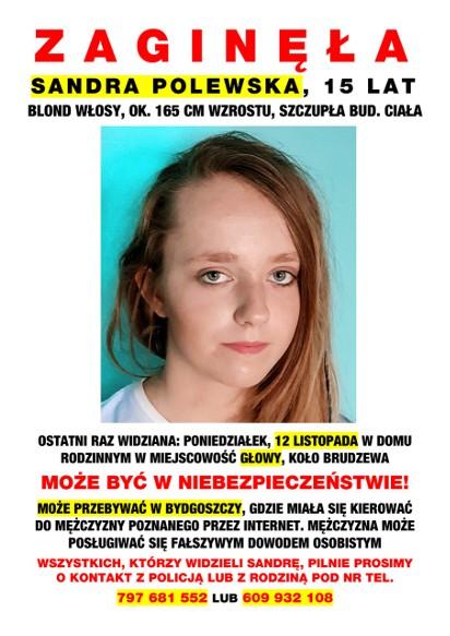 Zaginęła Sandra P. Czy 15-latka spotkała się w Bydgoszczy z ... 3b2d2167b75