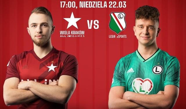 Wisła Kraków zmierzyła się z Legią Warszawa, ale na wirtualnym boisku. Oba kluby prowadzą bowiem sekcję e-sportu.