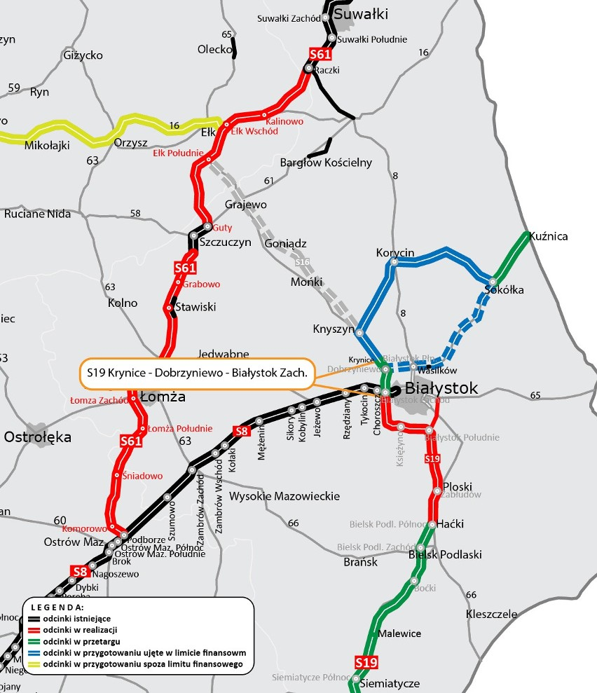 """Konsorcjum z Unibep SA zbuduje fragment """"eski"""" na północny-zachód od Białegostoku (zdjęcia)"""