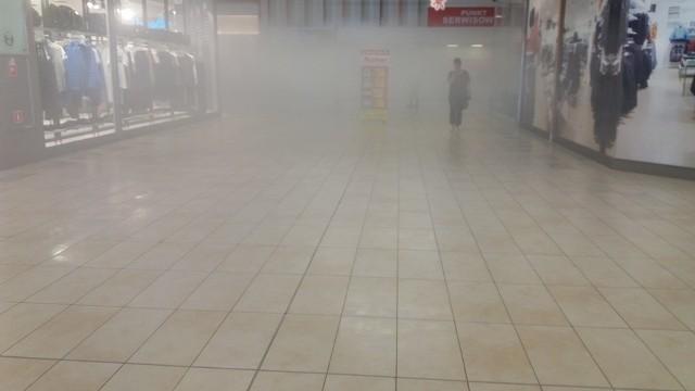 Pożar w CH Auchan Hetmańska w Białymstoku