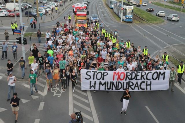 Protesty po śmierci Igora Stachowiaka na komisariacie we Wrocławiu