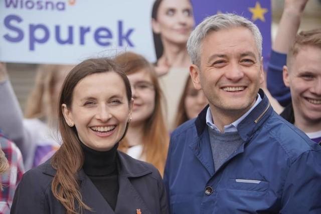Sylwia Spurek jest znaną weganką. Do Europarlamentu dostała się startując z list Wiosny Roberta Biedronia (na zdjęciu)