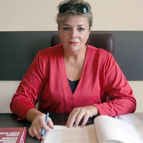 Prokurator Elżbieta Kosior: - Sprawy z udziałem pijanych kierowców natychmiast trafiają do sądów