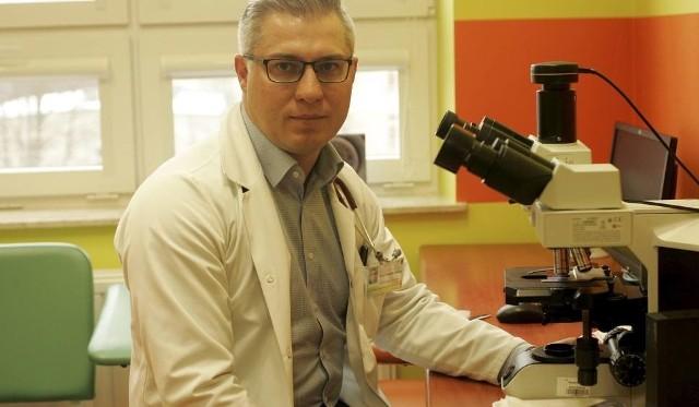 Prof. Krzysztof Giannopoulos, kierownik Zakładu Hematoonkologii Doświadczalnej UM