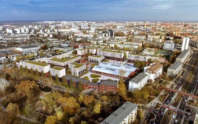 Wizualizacja osiedla, które powstanie przy ul. Kolejowej we Wrocławiu.