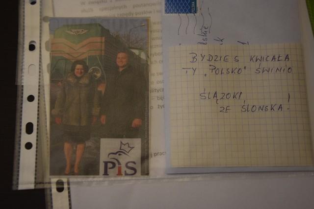 Posłanka Barbara Dziuk na zdjęciu z Piotrem Glińskim. Posłanka PIS dostała listy z pogróżkami
