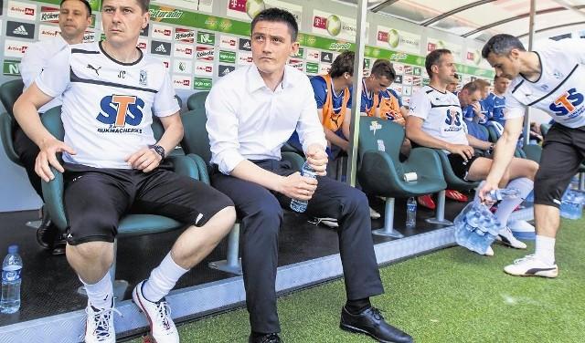 Mariusz Rumak jest nie do ruszenia, ma bowiem pełne poparcie zarządu Lecha
