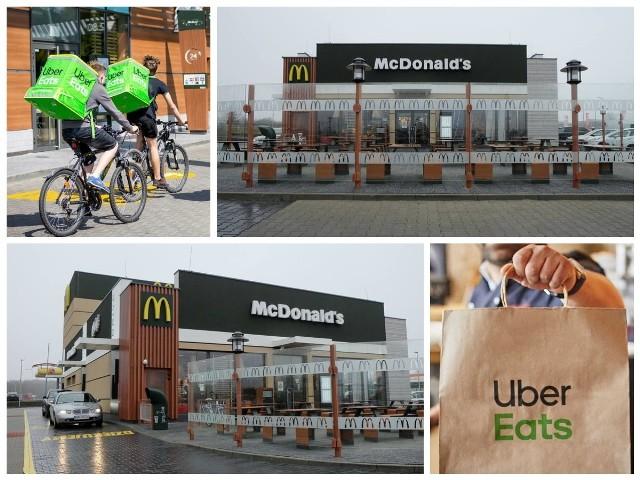 Mc Donalds z dostawą do domu już w Białymstoku. Posiłki dowozi Uber Eats.