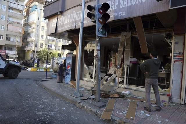 Miejsce zamachu w Diyarbakir