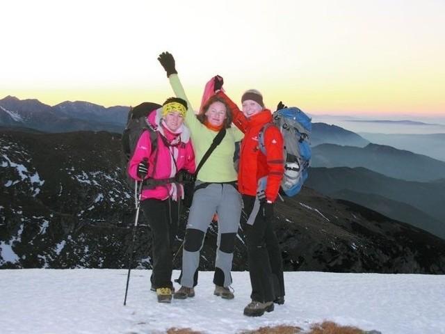 Katarzyna Siekierzyńska, Agnieszka Siejka i Anna Arseniuk podczas tegorocznego treningu w polskich Tatrach