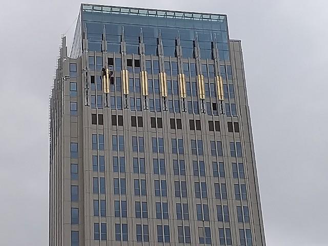 Pozłacany budynek Unity Tower