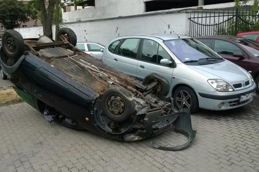 Kierowca musiał się mocno zdziwić....