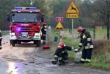 Wypadek na drodze na Świdnicę. Samochód uderzył w drzewo