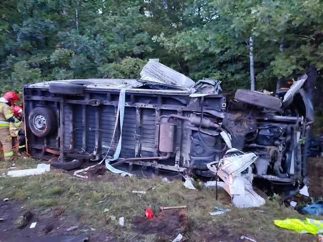 Śmiertelny wypadek na trasie Cewice-Rokity.