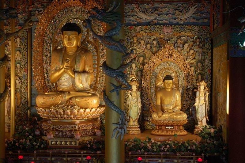 Wizerunek Buddy w świątyni koreańskiej