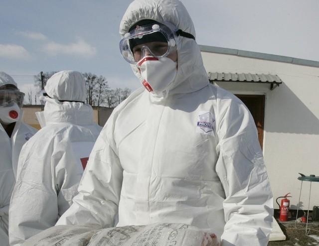 Ćwiczenia w zwalczaniu ptasiej grypy, które miały miejsce w powiecie milickim (Dolnośląskie)