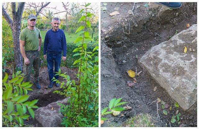 Schron odnaleziony w jednym z ogrodów w Stary Sączu przy ul. Witosa