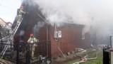 Ciechanowiec. 90-letnia kobieta zginęła w pożarze domu [ZDJĘCIA]