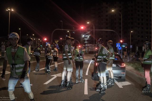 5. Nightskating Białystok 2019 odbył się w nocy 27 lipca. Był to przejazd neonowy