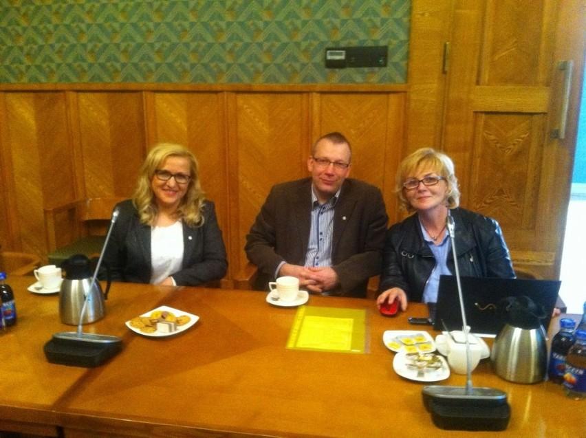 Hanna Molendowska (z lewej) na spotkaniu w MEN