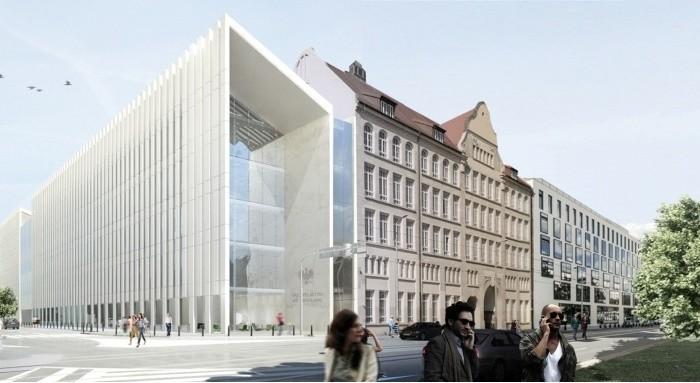 Tak będzie wyglądała nowa siedziba Sądu Apelacyjnego przy Piłsudskiego (WIZUALIZACJE)