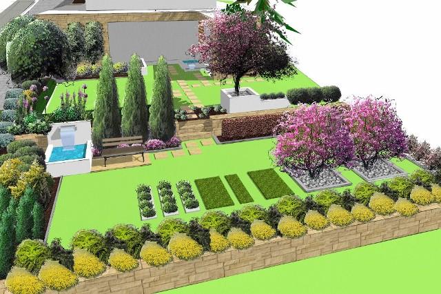 Podczas projektowania ogrodu warto udać się do eksperta - projektanta, który stworzy plan i wizualizację.