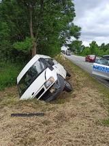 Salata - Smyków. Wypadek. Ford w rowie, kierowca po amfetaminie?