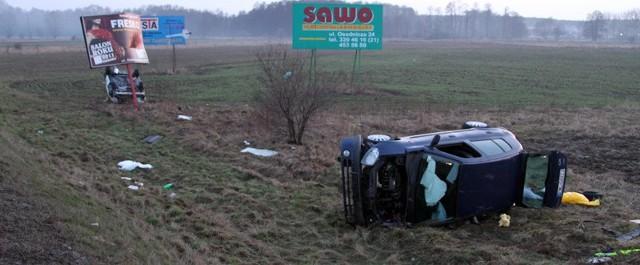 W wyniku zderzenia dwóch aut na S3 ranne zostały trzy osoby