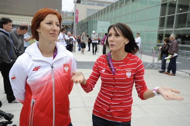 Marika Popowicz z prawej to sprinterka Zawiszy Bydgoszcz. Obok niej z lewej Daria Korczyńska, sprinterka Śląska Wrocław
