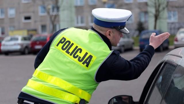 """Kolejna akcja policji """"Zielona strzałka"""" w Zielonej Górze."""